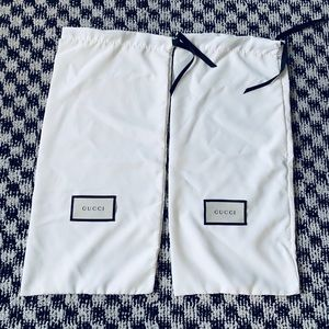 Gucci Drawstring Dust Bag X2 Authentic
